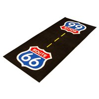 Bikeit Motorcycle Garage Mat Series 3 Route 66
