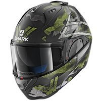 Shark EVO-ONE 2 Skuld Flip Front Helmet (Mat Anthracite|Green)