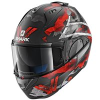 Shark EVO-ONE 2 Skuld Flip Front Helmet (Mat Black|Red)
