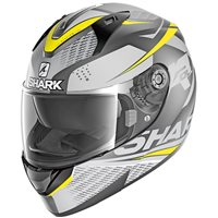 Shark Ridill Stratom Helmet (Mat White|Grey|Yellow)