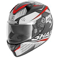 Shark Ridill Stratom Helmet (Mat White|Grey|Red)