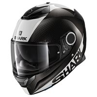 Shark Spartan Carbon Skin Helmet (Black|White)