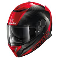 Shark Spartan Carbon Skin Motorcycle Helmet (Red)
