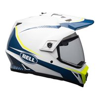 Bell MX-9 Adventure Mips Torch Helmet (White/Blue/Yellow)