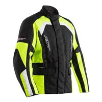 RST Alpha IV CE Textile Motorcycle Jacket 2726 (Black|Flo Yellow)