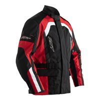 Alpha IV CE Textile Motorcycle Jacket 2726 (Black|Red) by RST