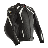 RST IOM TT Grandstand CE Leather Jacket 2235 (Black|White)