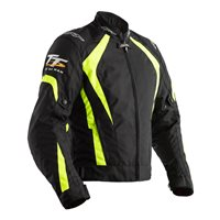 RST IOM TT Grandstand CE Textile Jacket 2237 (Black|Flo Yellow)