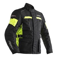 RST Tour Master II CE Textile Motorcycle Jacket 2708 (Black|Flo Yellow)