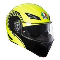 AGV COMPACT ST Vermont Flip Front Helmet (Yellow|Black)