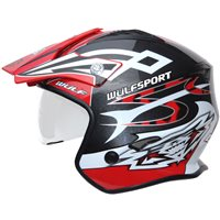 Wulfsport Vista Trials Helmet (Red)