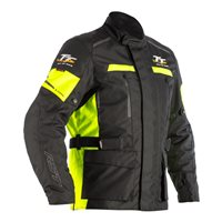 RST IOM TT Sulby CE Textile Jacket 2241 (Black|Flo Yellow)