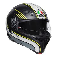 AGV Compact ST Boston Flip Front Helmet (Matt Black|Grey|Yellow)
