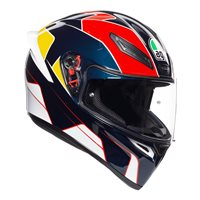 AGV K1 Pitlane Motorcycle Helmet (Blue|Red|Yellow)