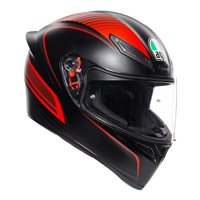 AGV K1 Warm Up Motorcycle Helmet (Matt Black|Red)