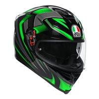 AGV K5-S Hurricane 2.0 Helmet (Black|Green)
