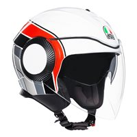 AGV Orbyt Brera Open Face Helmet (White|Grey|Red)