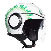 AGV Orbyt Ginza Open Face Helmet (White|Red|Green)