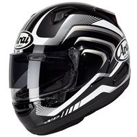 Arai QV Carve Black Motorcycle Helmet (Black|White)