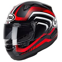 Arai QV Carve Red Motorcycle Helmet (Black|Red)