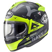 Arai Chaser-X Navy Yellow Motorcycle Helmet