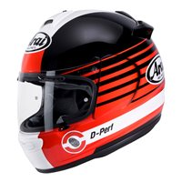 Arai Debut Page Red Motorcycle Helmet