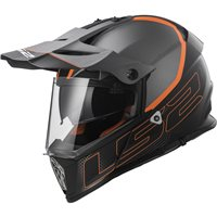 LS2 MX436 Pioneer Element Adventure Helmet (Mat Black|Orange)