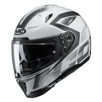 HJC I70 Asto Motorcycle Helmet (White|Black)
