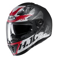 HJC I70 Rias Motorcycle Helmet (Black|Red)