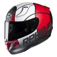 HJC RPHA 11 Quintain Red Motorcycle Helmet (Red|White)