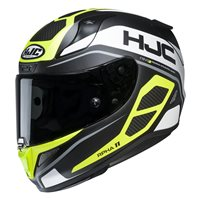 HJC RPHA 11 Saravo Motorcycle Helmet (Black|Flo Yellow)