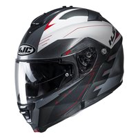 HJC IS-MAX II Cormi Red Flip Front Helmet (Grey|Red)