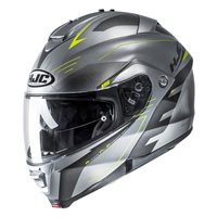 HJC IS-MAX II Cormi Fluo Yellow Flip Front Helmet (Silver|Yellow)