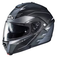 HJC IS-MAX II Cormi Black Flip Front Helmet (Grey|Black)