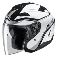 HJC IS-33 II Korba White Open Face Helmet (White|Black)