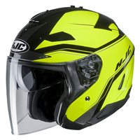 HJC IS-33 II Korba Fluo Yellow Open Face Helmet