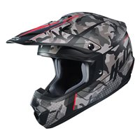HJC CS-MX II Sapir Red Moto-X Helmet (Grey|Red)