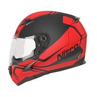 Nitro N2400 Rogue Motorcycle Helmet (Black|Red)