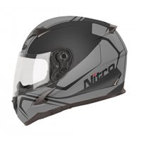 Nitro N2400 Rogue Motorcycle Helmet (Black|Gunmetal Grey)