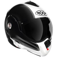 Roof Desmo Flash Flip Front Helmet (Gloss Black|White)