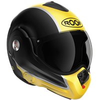Roof Desmo Flash Flip Front Helmet (Matt Black|Yellow)