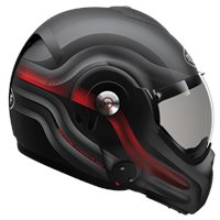 Roof Desmo Streamline Flip Front Helmet (Matt Black|Red)