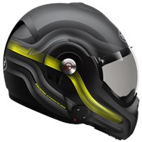 Roof Desmo Streamline Flip Front Helmet (Matt Black|Titan|Fluo Yellow)