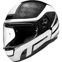 Schuberth R2 Carbon Cubature White Helmet (Black|White)
