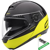Schuberth C4 PRO Swipe Yellow Flip Front Helmet (Black|Yellow)