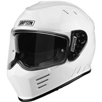 Simpson Venom Motorcycle Helmet (Gloss White)