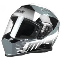 Simpson Venom Army Motorcycle Helmet (Gloss White|Black)