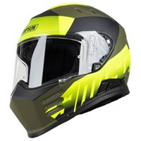 Simpson Venom Army Motorcycle Helmet (Matt Black|Yellow)