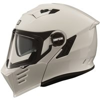 Simpson Darksome Flip Front Motorcycle Helmet (Gloss White)