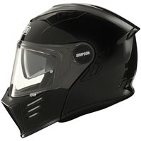 Simpson Darksome Flip Front Motorcycle Helmet (Gloss Black)